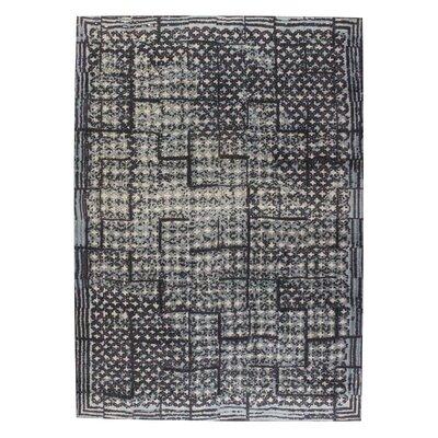 Burbank Hand-Woven Gray Area Rug Rug Size: 4 x 6