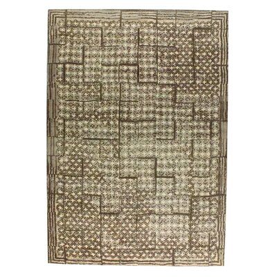 Burbank Hand-Woven Dark Brown Area Rug Rug Size: 4 x 6