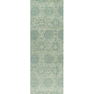Baltimore Hand-Woven Light Blue Area Rug Rug Size: 5 x 8