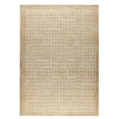 Burbank Hand-Woven Light Beige Area Rug Rug Size: 5 x 8