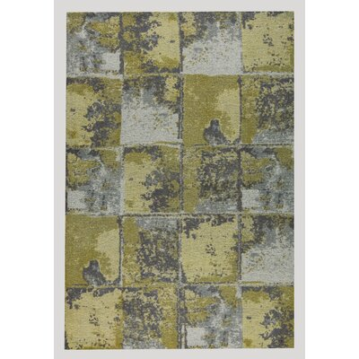 Cleveland Hand-Woven Gold/Gray Area Rug Rug Size: 8 x 10