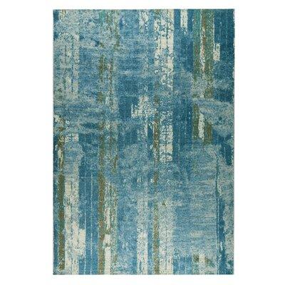 Hayward Hand-Woven Blue/Beige Area Rug Rug Size: 5 x 8