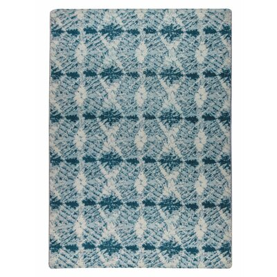 Lakeland Hand-Woven Blue Area Rug Rug Size: 5 x 8