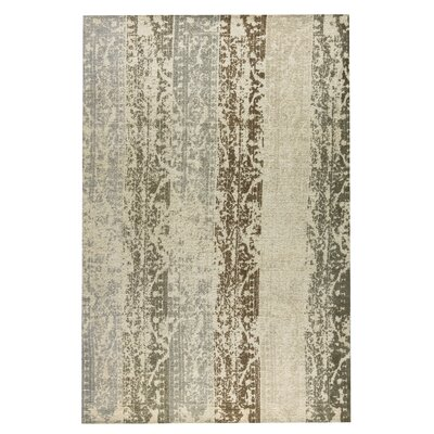 Madison Hand-Woven Silver/Beige Area Rug Rug Size: 4 x 6