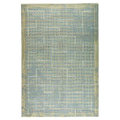 Burbank Hand-Woven Gray/Beige Area Rug Rug Size: 5 x 8