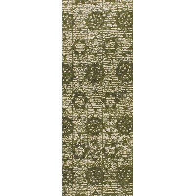 Baltimore Hand-Woven Green Area Rug Rug Size: 4 x 6
