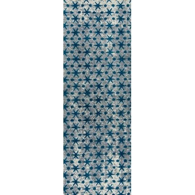 Modesto Hand-Woven Blue Area Rug Rug Size: Runner 26 x 8