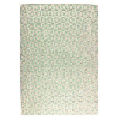 Yonkers Hand-Woven Aqua/Beige Area Rug Rug Size: 9 x 12