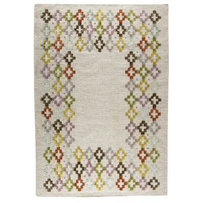 Khema 3 Hand-Woven Green/Purple/Brown Area Rug Rug Size: 83 x 116