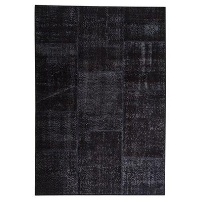Konya Hand woven Charcoal Area Rug Rug Size: 52 x 76