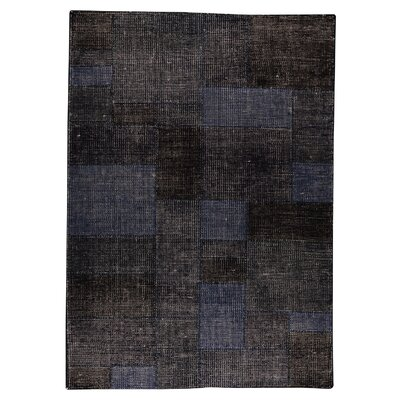 Lina Hand-Woven Dark Blue Area Rug Rug Size: 66 x 99