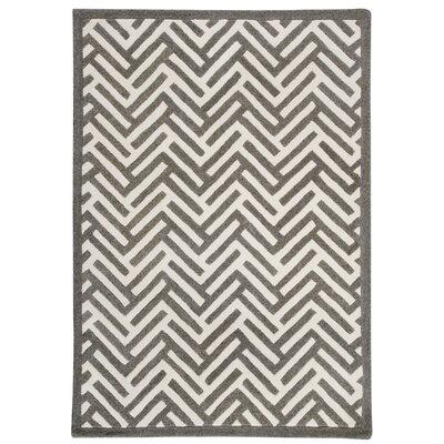 Portland Hand-Tufted Gray Area Rug Rug Size: 66 x 99