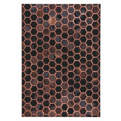 Vega Hand Woven Copper Area Rug Rug Size: 5 x 8