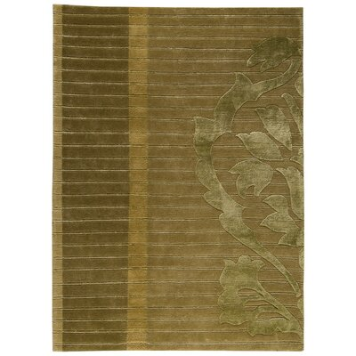 Cortina Hand-Knotted Green Area Rug Rug Size: 56 x 710