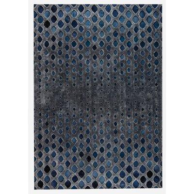 Cursa Handmade Dark Gray/Blue Area Rug Rug Size: 8 x 10