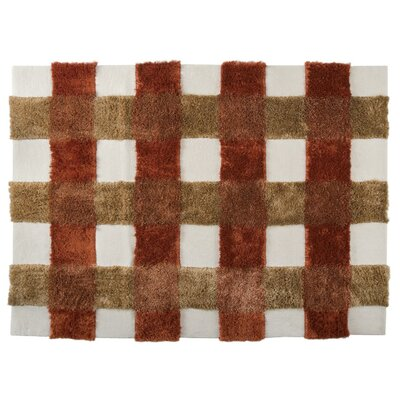 Kent Hand-Tufted Rust Area Rug Rug Size: 46 x 66