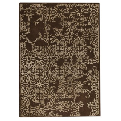 Illusion Hand-Tufted Brown Area Rug Rug Size: 56 x 710