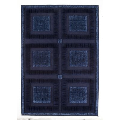 Bergamo Hand-Knotted Blue Area Rug Rug Size: 46 x 66
