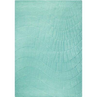 Terraza Hand-Tufted Aqua Area Rug Rug Size: 83 x 116