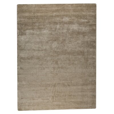 Platinum Hand-Woven Natural Area Rug Rug Size: 6'6