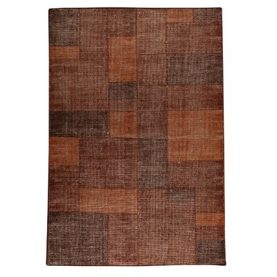 Lina Hand-Woven Terra Area Rug Rug Size: 66 x 99