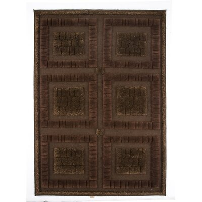 Bergamo Hand-Knotted Chocolate Area Rug Rug Size: 9 x 12