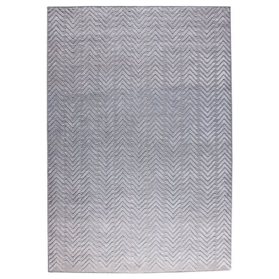 Chandler Hand-Woven Silver Area Rug Rug Size: 9 x 12