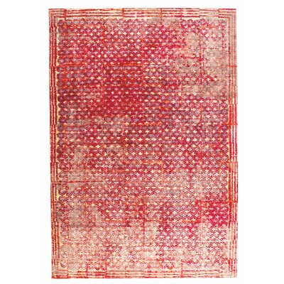Ferrara Hand-Woven Red Area Rug Rug Size: 2 x 3