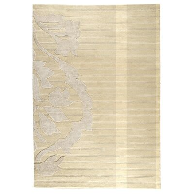 Cortina Hand-Knotted White Area Rug Rug Size: 56 x 710