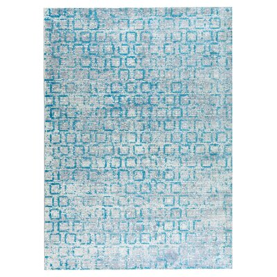 Tampa Hand-Woven Blue Area Rug Rug Size: 2 x 3
