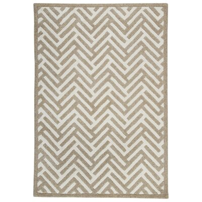 Portland Hand-Tufted Beige Area Rug Rug Size: 66 x 99