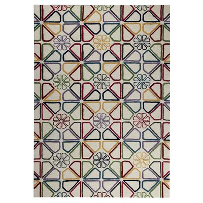 Continuum Hand-Tufted Red/Yellow/Green Area Rug Rug Size: 52 x 76