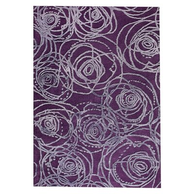 Rosa Hand-Tufted Purple Area Rug Rug Size: 52 x 76