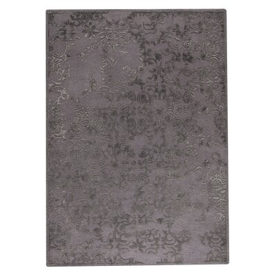 Illusion Hand-Tufted Gray Area Rug Rug Size: 83 x 116