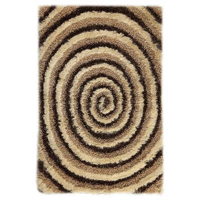 Landscape Hand-Tufted Beige/Brown Area Rug Rug Size: 52 x 76