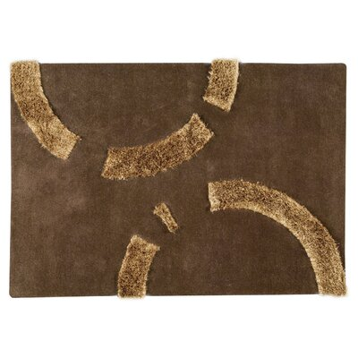 Odessa Hand-Tufted Brown Area Rug Rug Size: 56 x 710