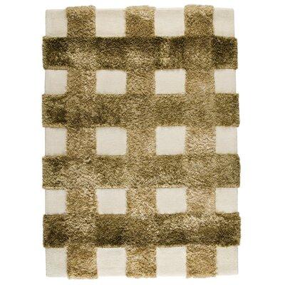 Kent Hand-Tufted Khaki Area Rug Rug Size: 66 x 99