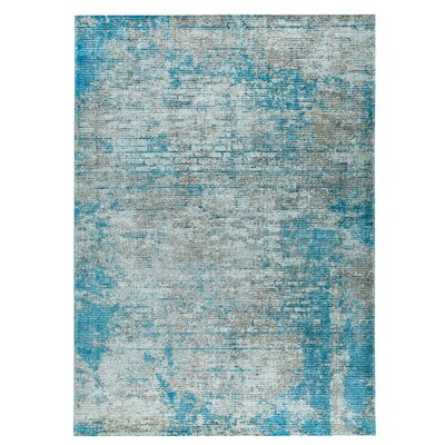 Dallas Hand-Woven Blue Area Rug Rug Size: 5 x 8