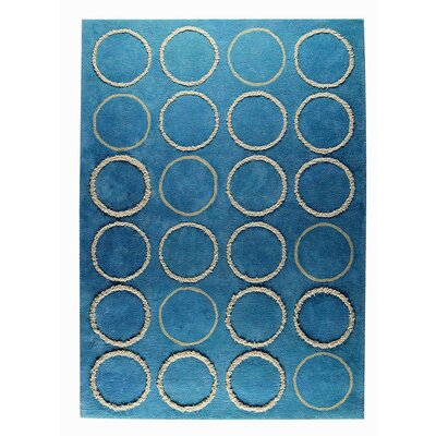 Bilbao Hand-Tufted Turquoise Area Rug Rug Size: 66 x 99