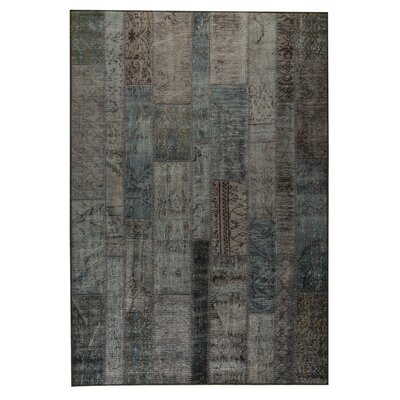 Adna Hand woven Atmosphere Blue /Green Area Rug Rug Size: 52 x 76