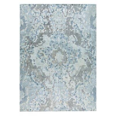 Omaha Hand-Woven Gray/Blue Area Rug Rug Size: 2 x 3
