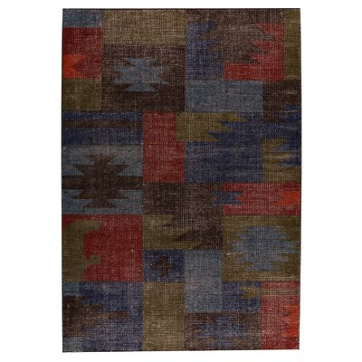 Lina classic Hand-Woven Brown/Gray Area Rug Rug Size: 66 x 99