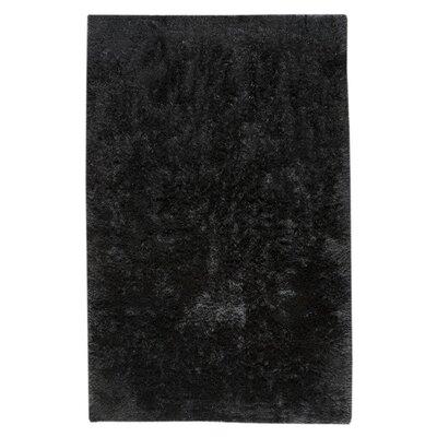 Sunshine Hand-Woven Black Area Rug Rug Size: 5 x 8