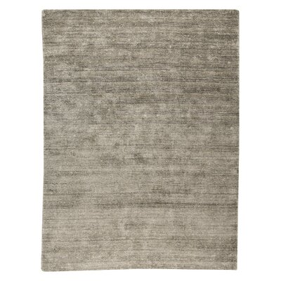 Platinum Hand-Woven Silver Area Rug Rug Size: 66 x 99