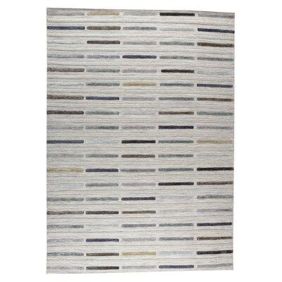 Khema 5 Hand-Woven Gray Area Rug Rug Size: 9 x 12