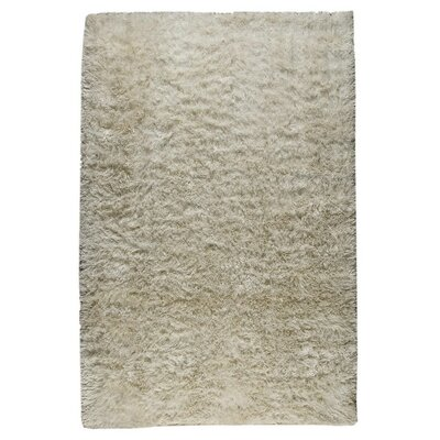 Sunshine Hand-Woven White Area Rug Rug Size: 8 x 10