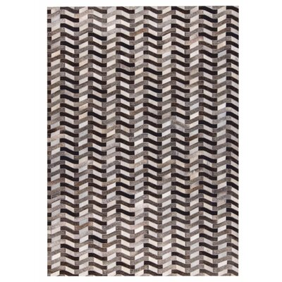 Algedi Hand woven Gray Area Rug Rug Size: 8 x 10