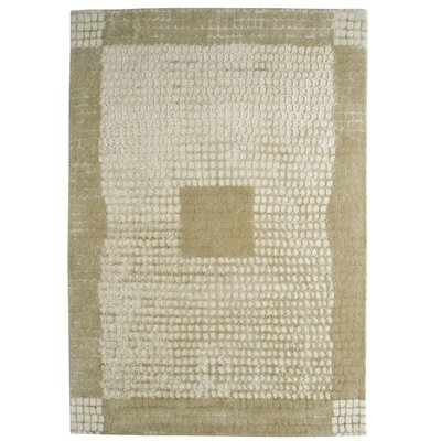 Marrakesh Hand-Tufted Caramel/White Area Rug Rug Size: 46 x 66