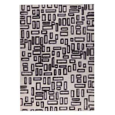 Fermont Hand-Woven Gray Area Rug Rug Size: 5 x 8