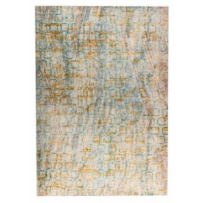 Torrance Hand-Woven Aqua/Orange Area Rug Rug Size: 5 x 8